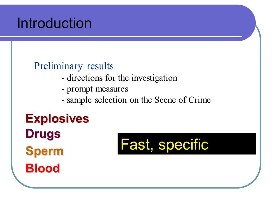 Drug detection Multi Drug Spray Test Sensitivity < 10 µg Hashish Marijuana Heroin Amphetamine Meth-amphetamine Cocaine Crack