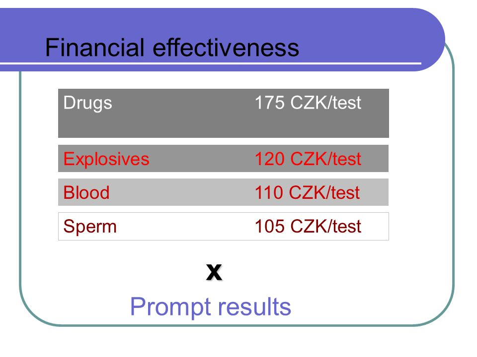 Tools for the Preliminary examination on Drugs, Explosives, Blood and Sperm in the Field Financial fairness Easy use Permanent results Fast and sensitive Conclusions