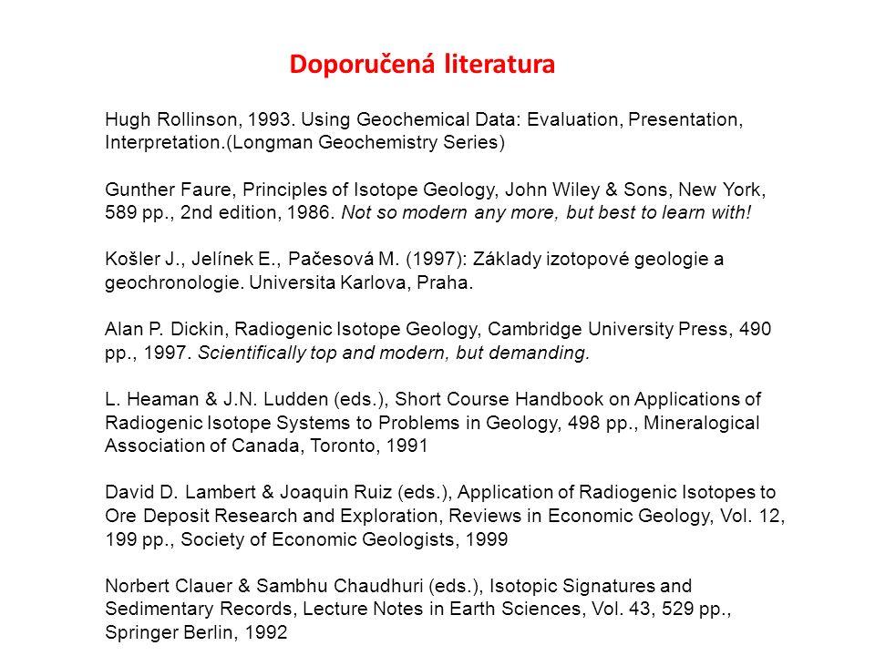 Doporučená literatura Hugh Rollinson, 1993.