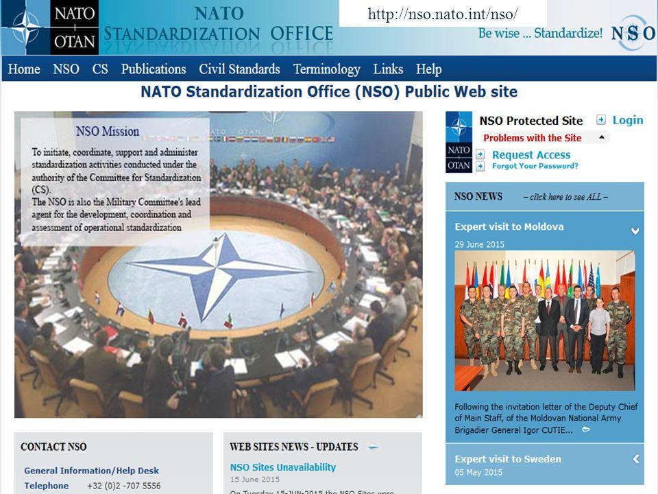 Úřad pro obrannou standardizaci, katalogizaci a státní ověřování jakosti Odbor obranné standardizace 14 http://nso.nato.int/nso/