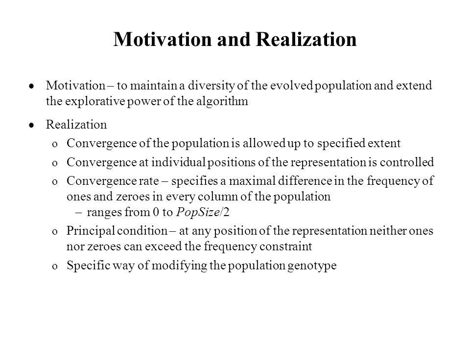 Algorithm of GALCO 1.Generate initial population 2.