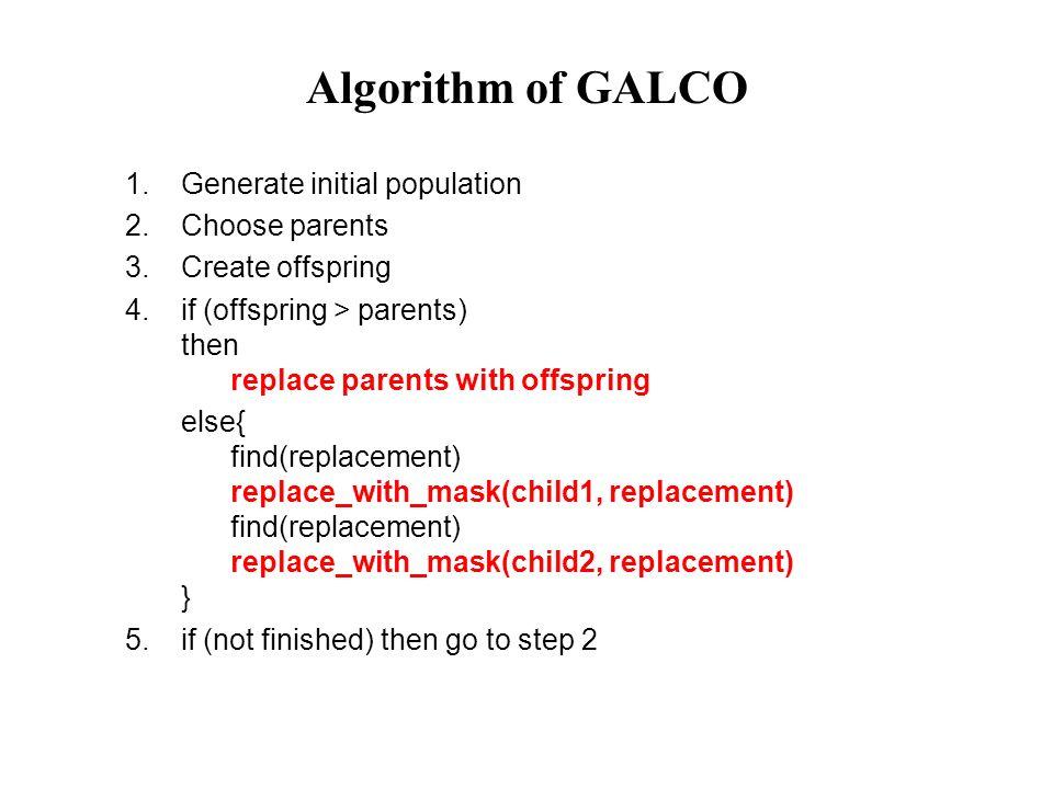 Posilování a oslabování genů  Oslabování gen' = gen + c*(1.0-P[i]), když (gen<0.5) a (P[i]<0.5) (gen má hodnotu nula a v populaci na i-té pozici převažují nuly) a gen' = gen – c*P[i], když (gen>0.5) a (P[i]>0.5)  Posilování gen' = gen – c*(P[i]), když (gen 0.5) (gen má hodnotu nula a v populaci na i-té pozici převažují jedničky) a gen' = gen + c*(1.0-P[i]), když (gen>0.5) a (P[i]<0.5)  Konstanta c určuje rychlost adaptace genů: c  (0.0,0.2 