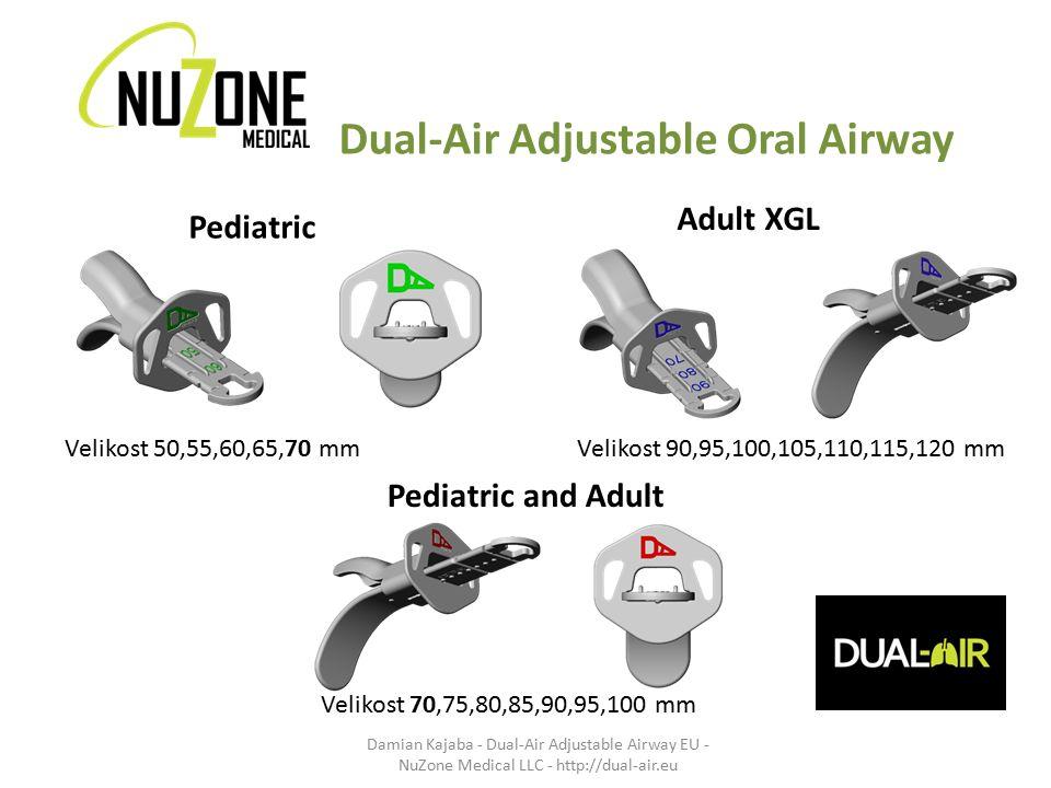 Dual-Air Adjustable Oral Airway Pediatric Adult XGL Velikost 50,55,60,65,70 mm Velikost 70,75,80,85,90,95,100 mm Velikost 90,95,100,105,110,115,120 mm
