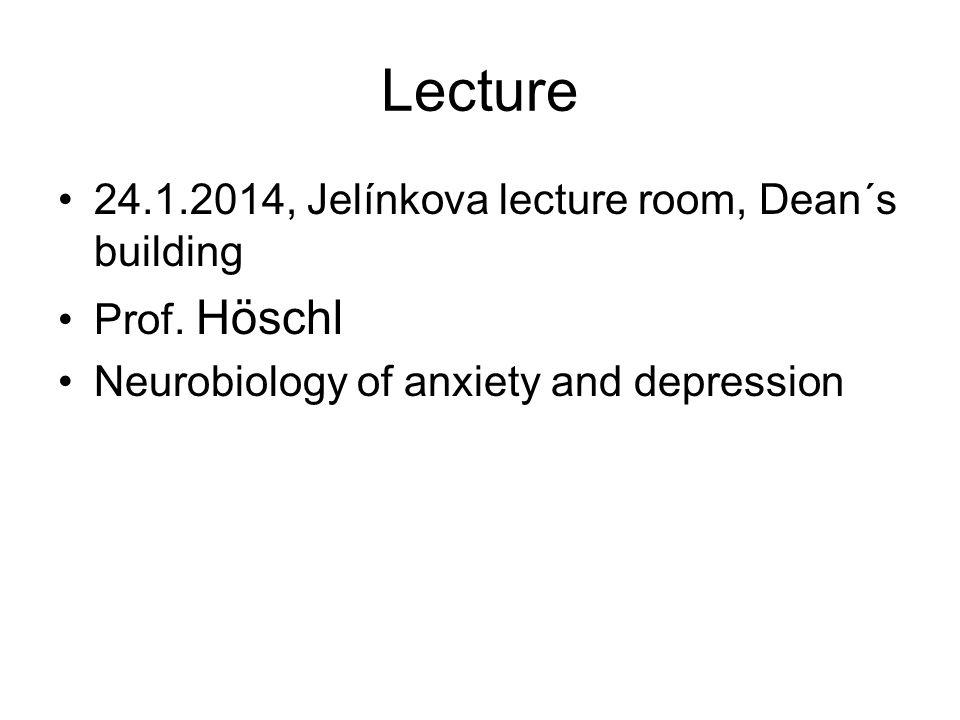 Lecture 24.1.2014, Jelínkova lecture room, Dean´s building Prof.