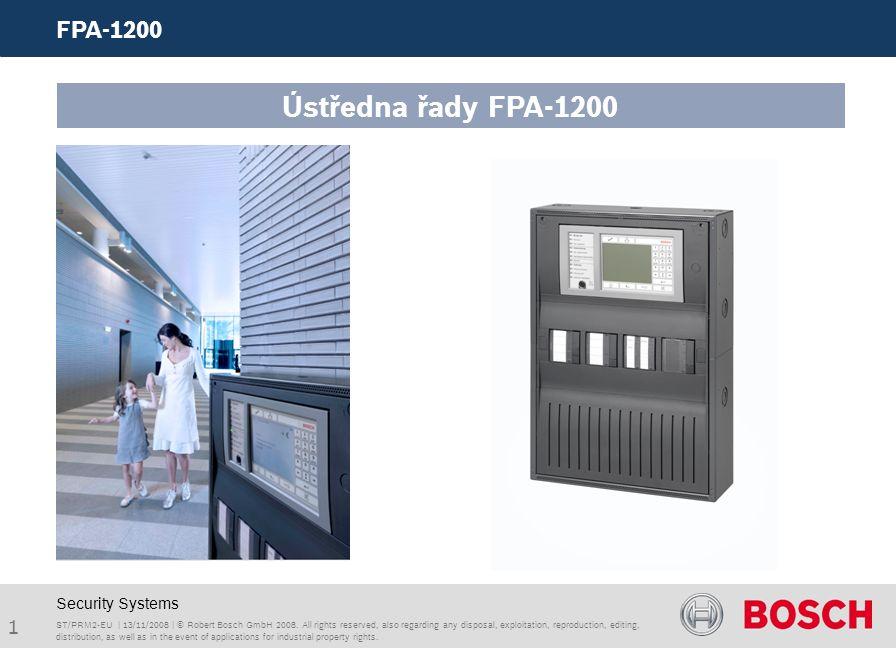 1 FPA-1200 ST/PRM2-EU | 13/11/2008 | © Robert Bosch GmbH 2008.