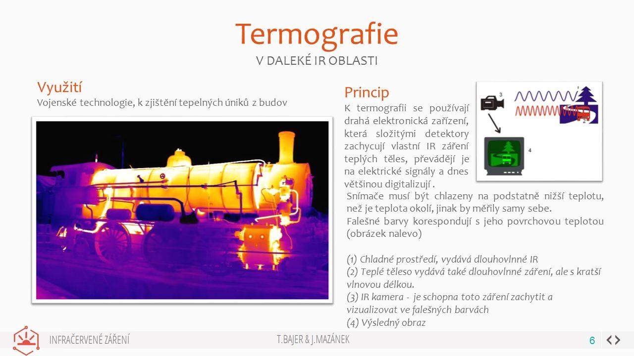 BUSINESS GROWTHWWW.YOURWEBSITE.COM Termografie V DALEKÉ IR OBLASTI 6 Snímače musí být chlazeny na podstatně nižší teplotu, než je teplota okolí, jinak by měřily samy sebe.