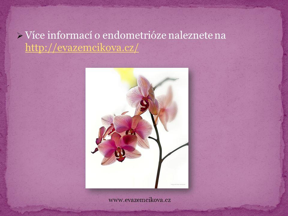  Více informací o endometrióze naleznete na http://evazemcikova.cz/ http://evazemcikova.cz/ www.evazemcikova.cz