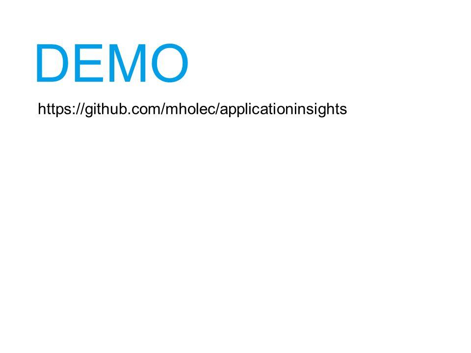DEMO https://github.com/mholec/applicationinsights