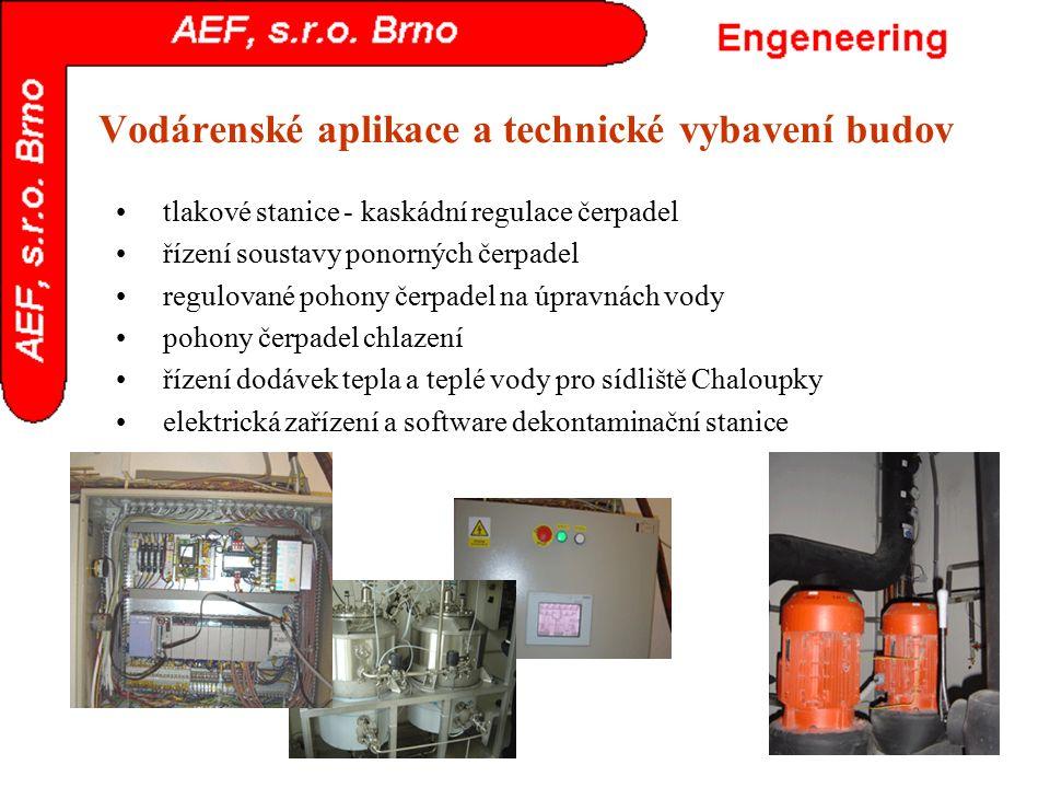 Vodárenské aplikace a technické vybavení budov tlakové stanice - kaskádní regulace čerpadel řízení soustavy ponorných čerpadel regulované pohony čerpa