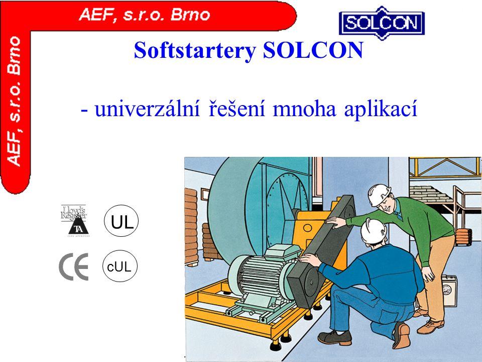 Softstartery SOLCON - univerzální řešení mnoha aplikací UL cUL