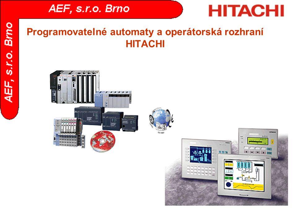 Programovatelné automaty a operátorská rozhraní HITACHI