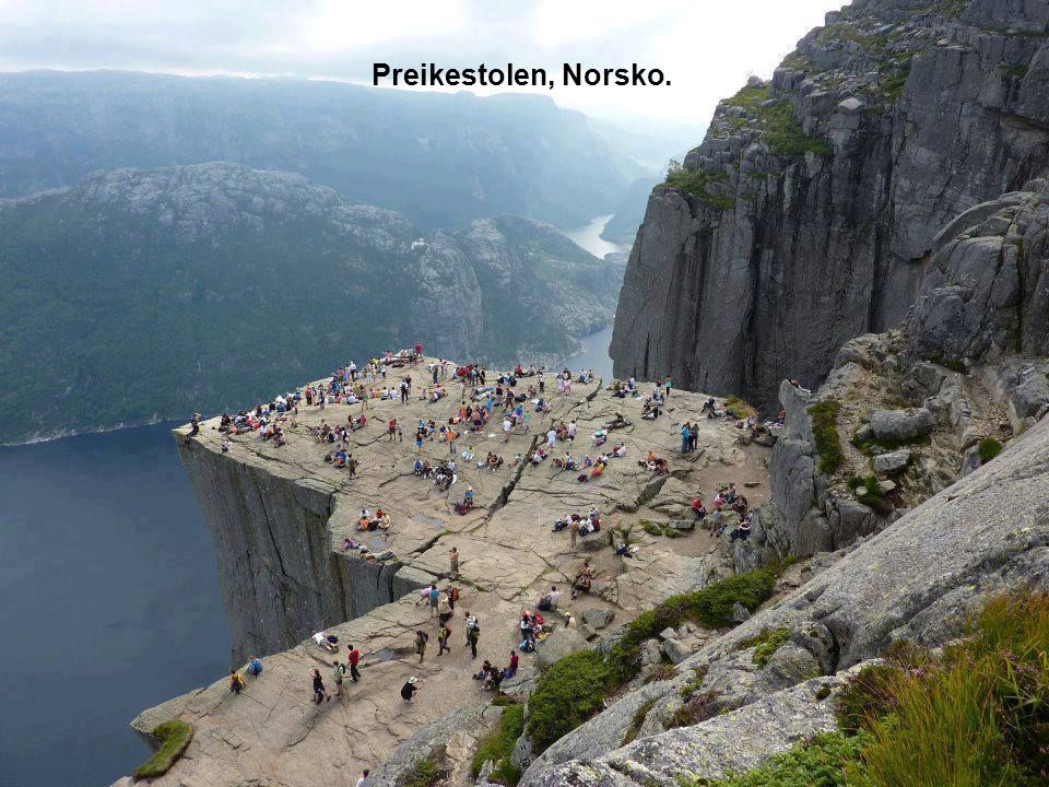 Vøringfossen je 83. nejvyšší vodopád v Norsku.
