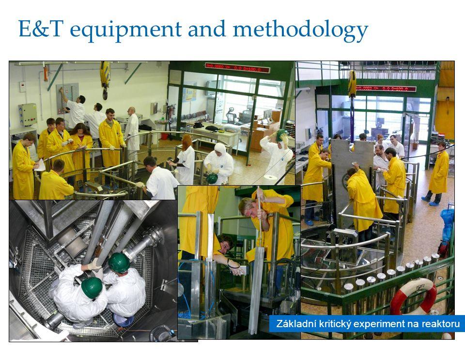 20 E&T equipment and methodology Základní kritický experiment na reaktoru