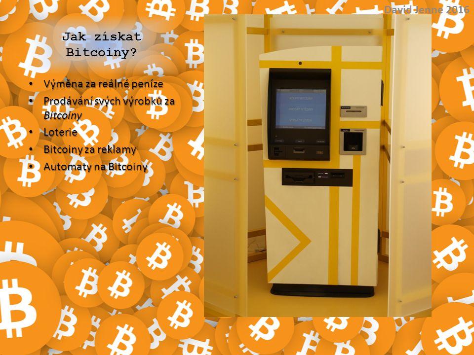 Jak získat Bitcoiny? Výměna za reálné peníze Výměna za reálné peníze Prodávání svých výrobků za Bitcoiny Prodávání svých výrobků za Bitcoiny Loterie L