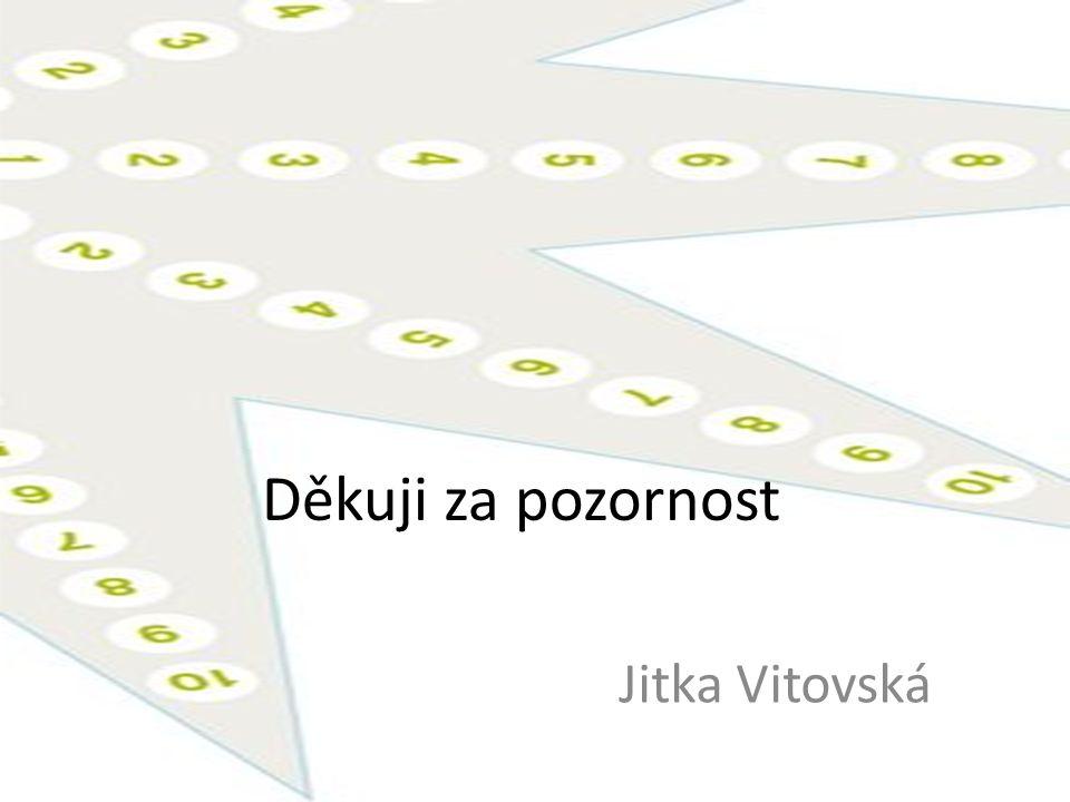 Děkuji za pozornost Jitka Vitovská
