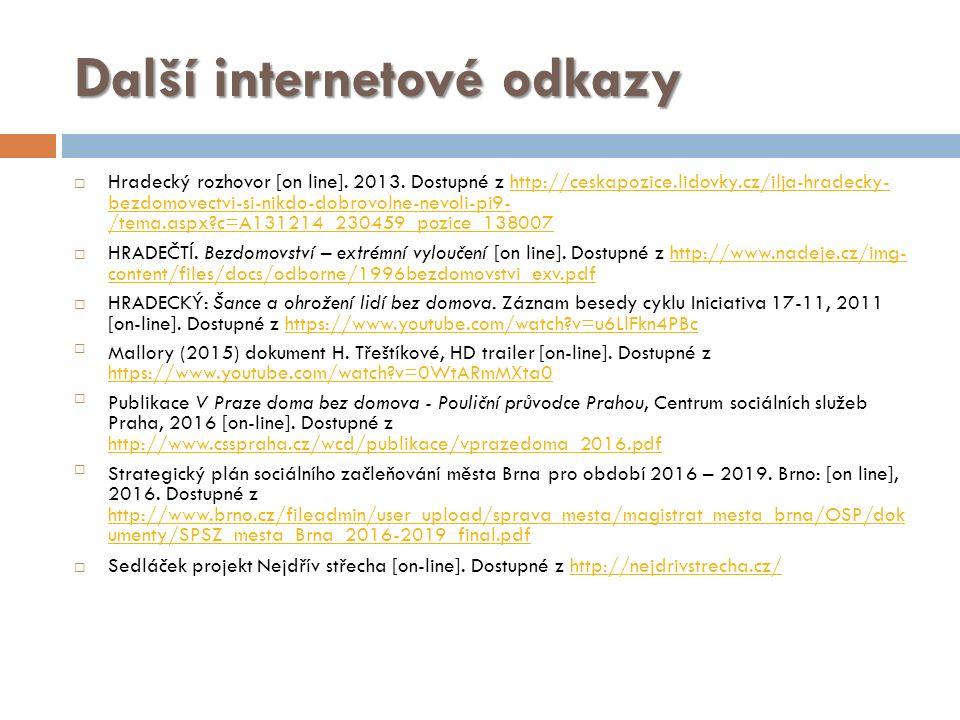 Další internetové odkazy  Hradecký rozhovor [on line].