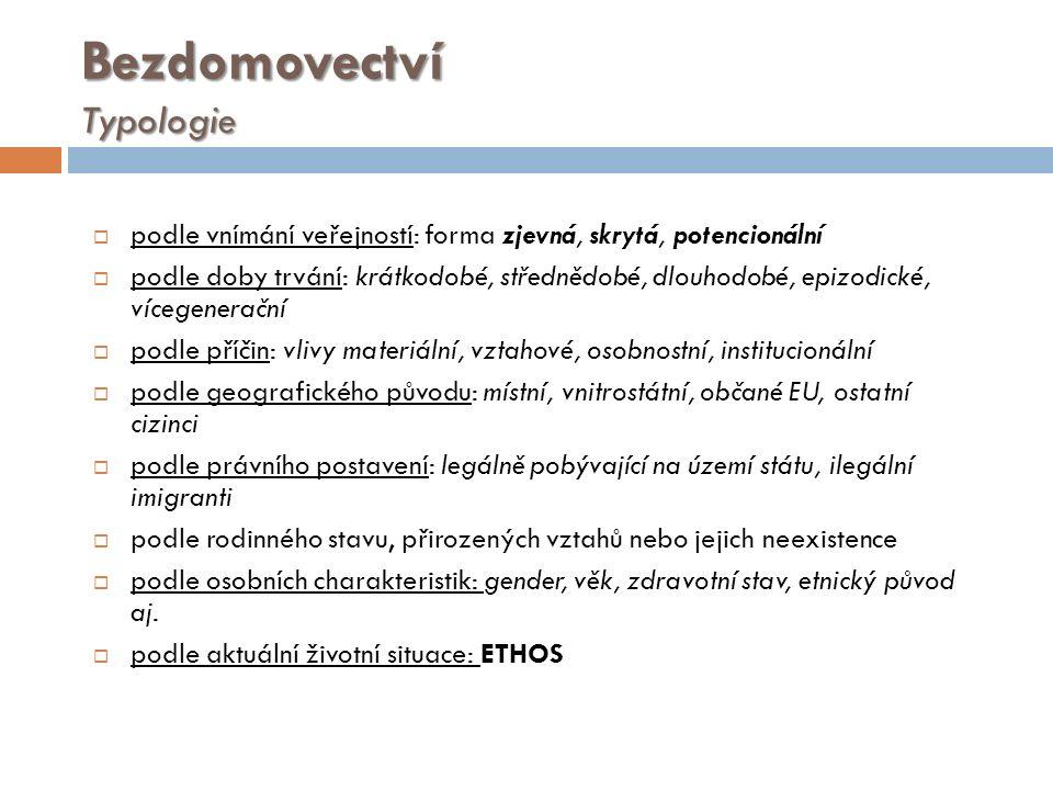 Literatura a použité zdroje  HRADECKÝ I.et al. Definice a typologie bezdomovství.
