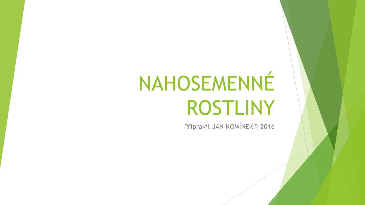 NAHOSEMENNÉ ROSTLINY Připravil JAN KOMÍNEK© 2016