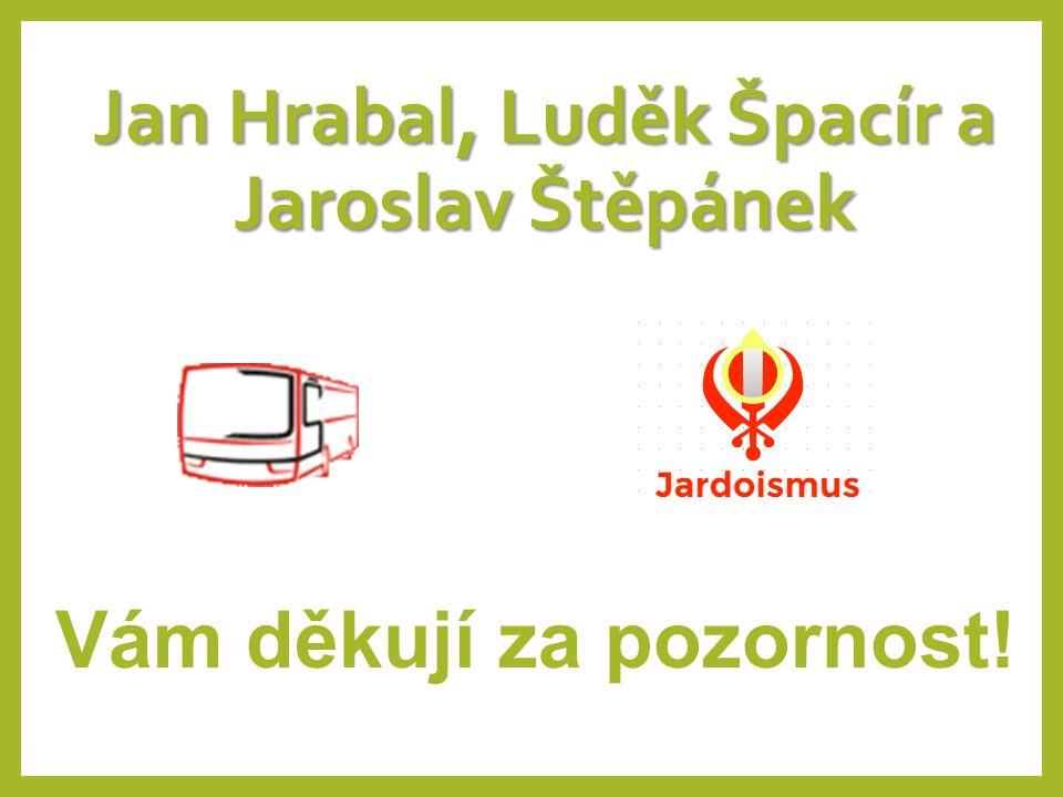 Jan Hrabal, Luděk Špacír a Jaroslav Štěpánek Vám děkují za pozornost!