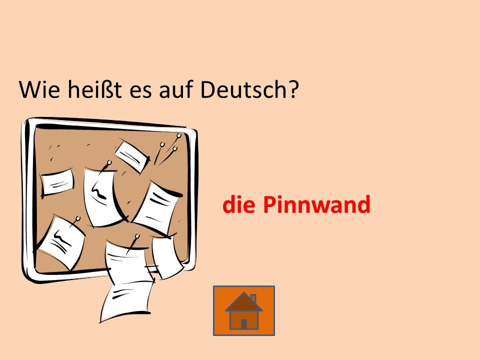 Wie heißt es auf Deutsch die Pinnwand