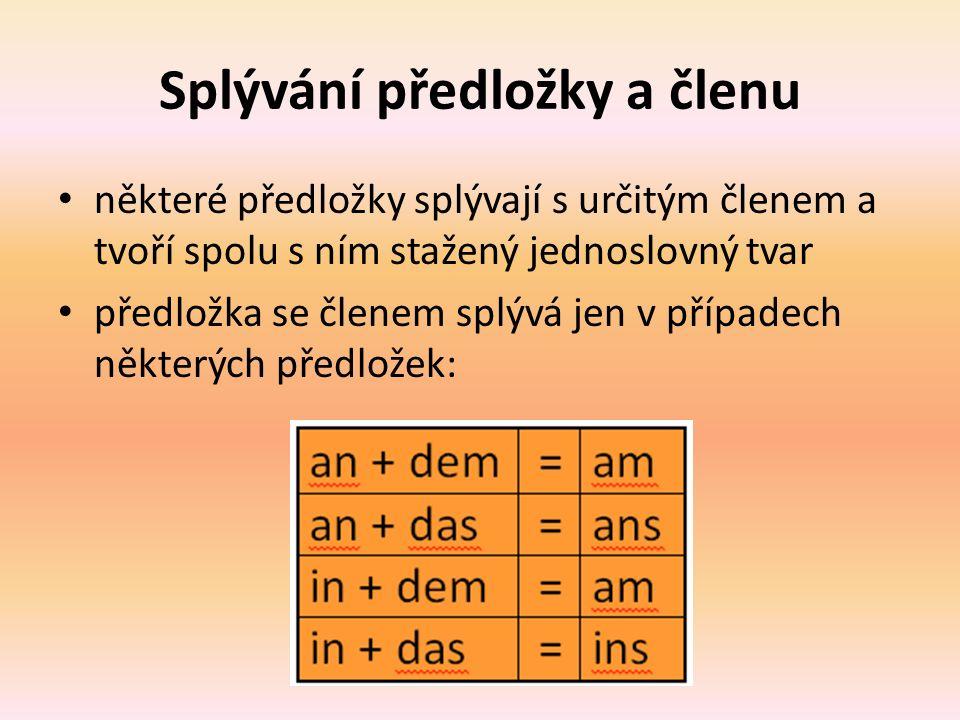 Vyberte z nabídky vhodnou předložku a spolu sní do věty doplňte i člen určitý Wie lange wohnen Sie ________ Wohnung.
