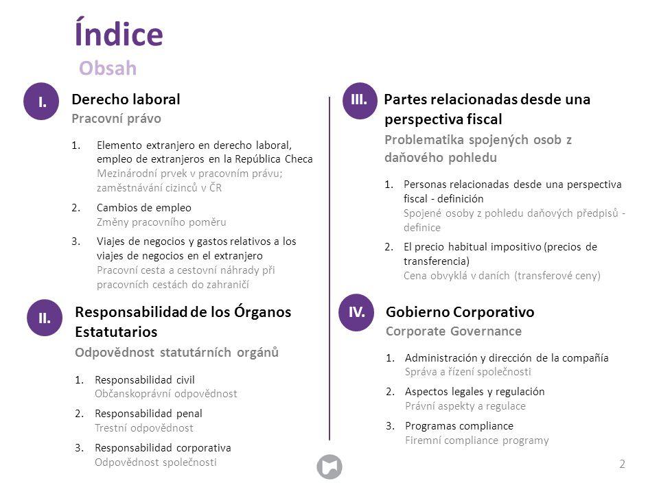 RESPONSABILIDAD DE LOS ÓRGANOS ESTATUTARIOS ODPOVĚDNOST STATUTÁRNÍCH ORGÁNŮ