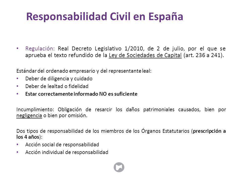 Regulación: Real Decreto Legislativo 1/2010, de 2 de julio, por el que se aprueba el texto refundido de la Ley de Sociedades de Capital (art. 236 a 24