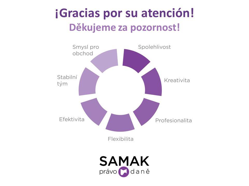 ¡Gracias por su atención! Děkujeme za pozornost!