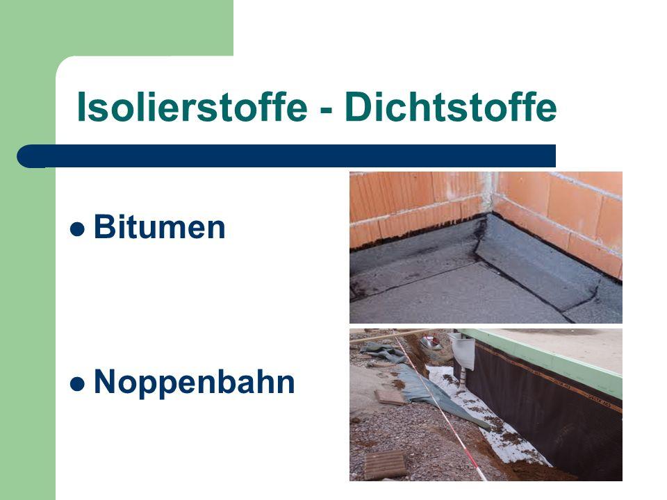 Isolierstoffe - Dichtstoffe Bitumen Noppenbahn