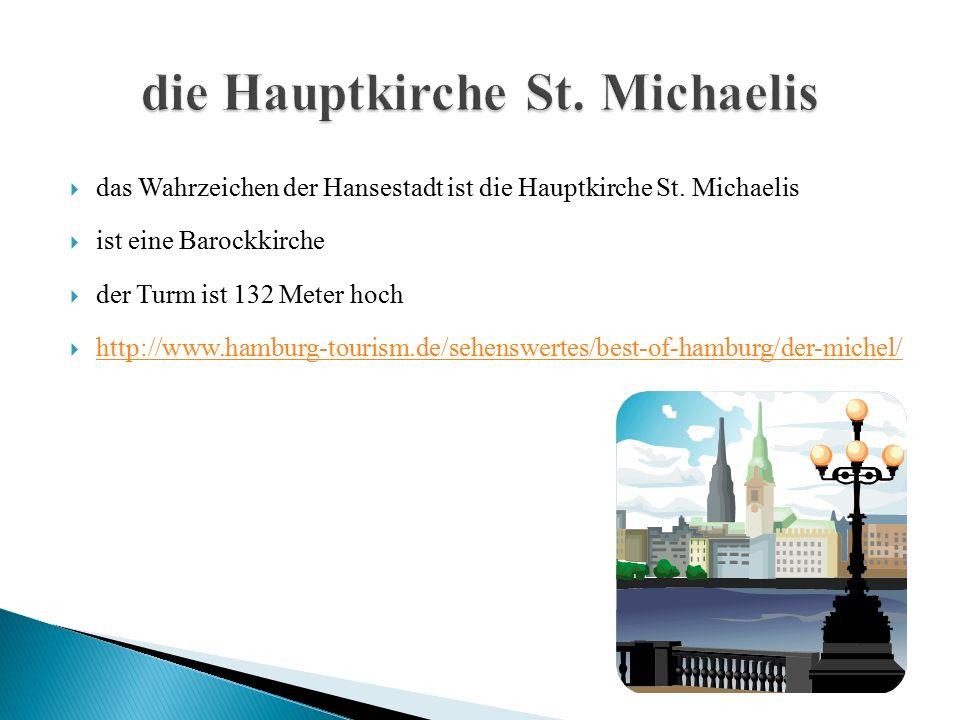  das Wahrzeichen der Hansestadt ist die Hauptkirche St.