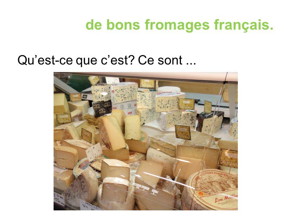 de bons fromages français. Qu'est-ce que c'est Ce sont...