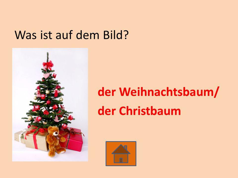 Was ist auf dem Bild? der Weihnachtsbaum/ der Christbaum