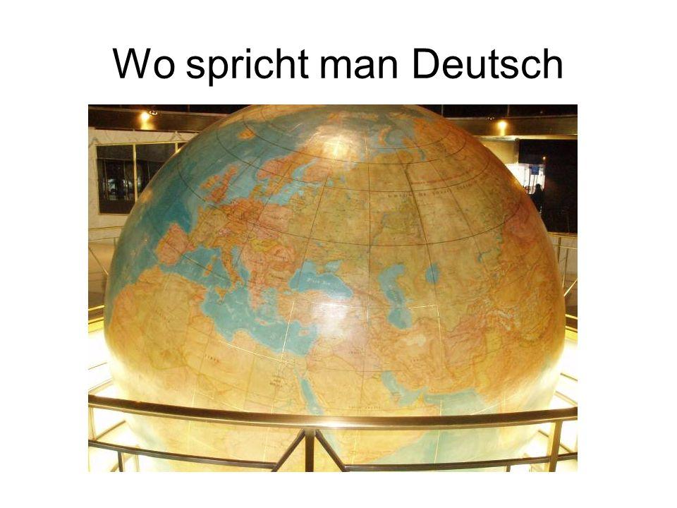 Wo spricht man Deutsch