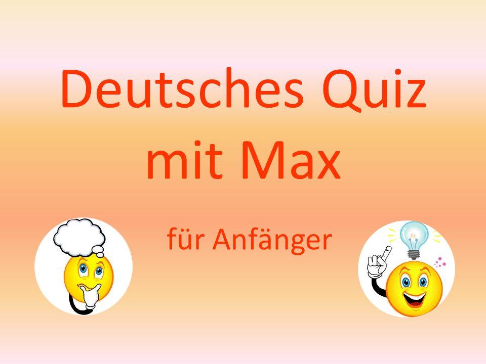 Deutsches Quiz mit Max für Anfänger