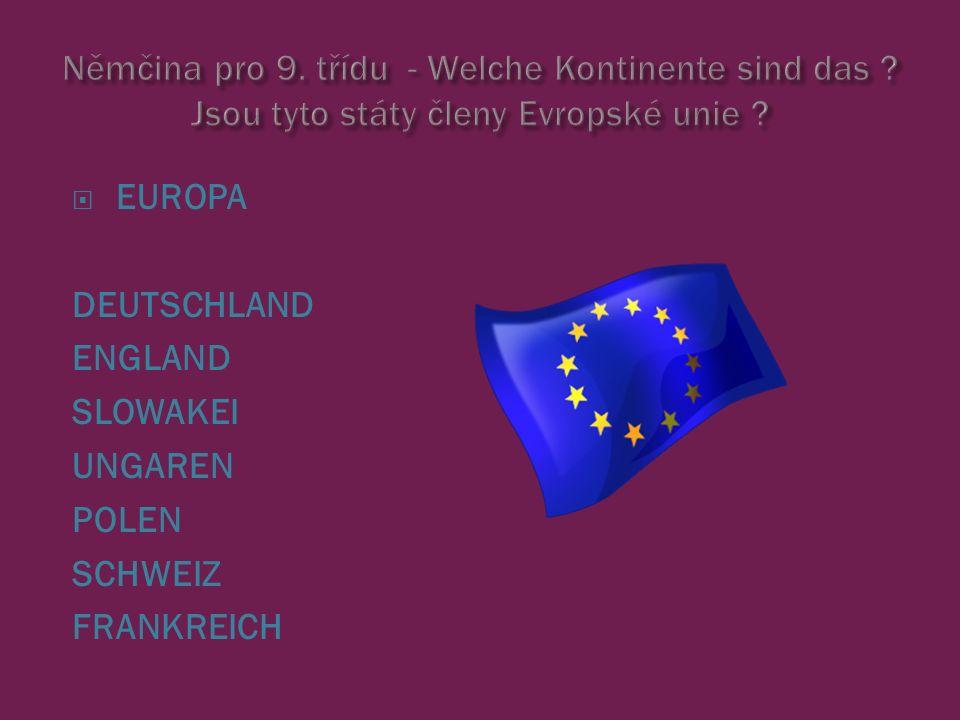  EUROPA DEUTSCHLAND ENGLAND SLOWAKEI UNGAREN POLEN SCHWEIZ FRANKREICH