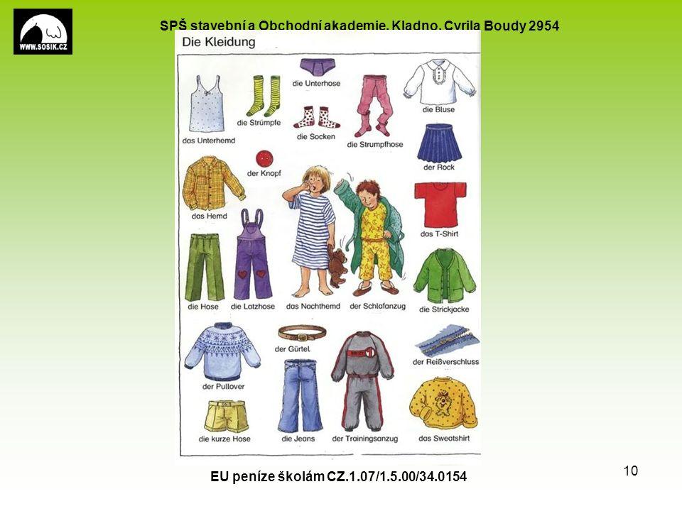 SPŠ stavební a Obchodní akademie, Kladno, Cyrila Boudy 2954 EU peníze školám CZ.1.07/1.5.00/34.0154 10