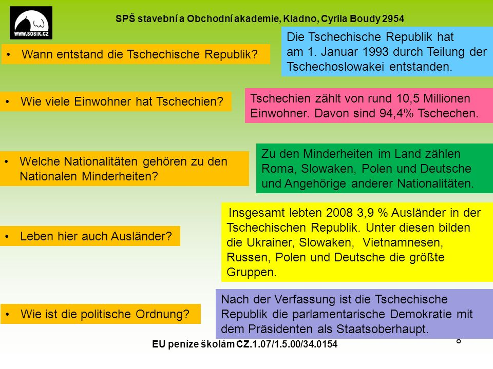 SPŠ stavební a Obchodní akademie, Kladno, Cyrila Boudy 2954 EU peníze školám CZ.1.07/1.5.00/34.0154 9 Landwirtschaft: Bodenschätze: Industrie: Wirtschaft:.