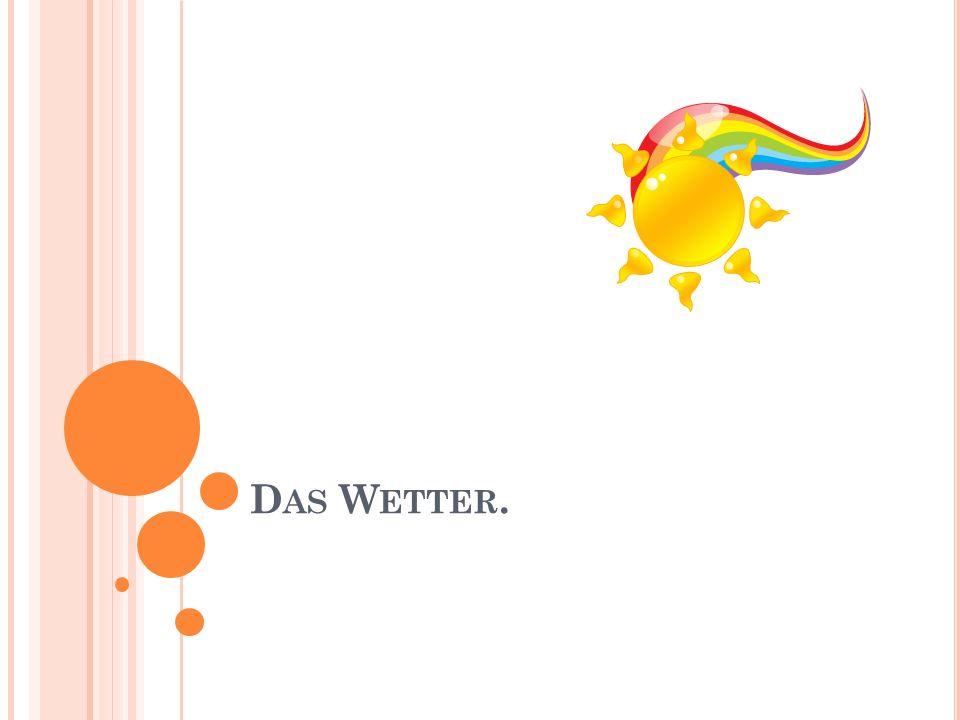 D AS W ETTER.
