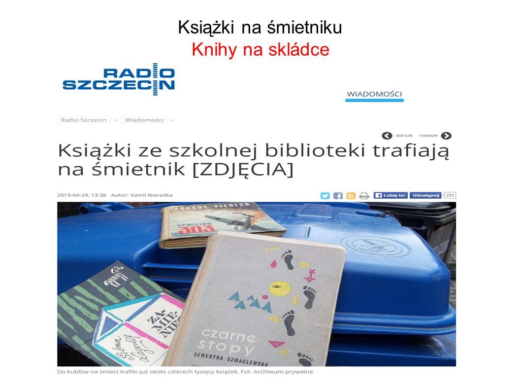 Książki na śmietniku Knihy na skládce