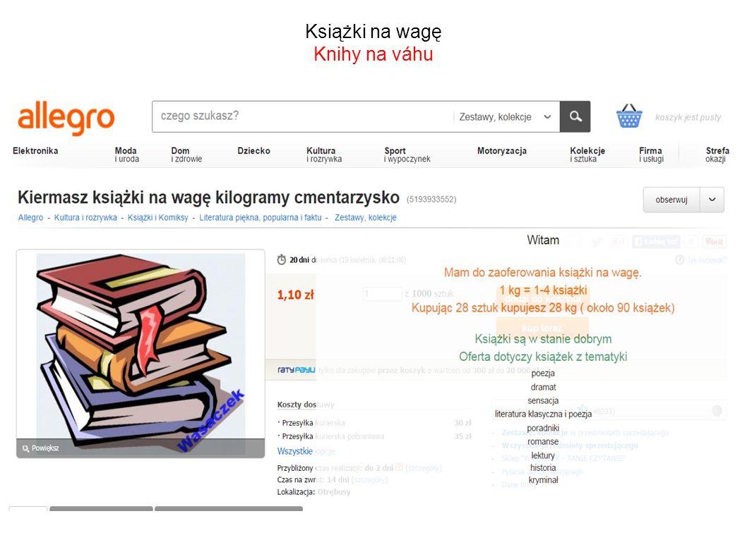 Książki na wagę Knihy na váhu
