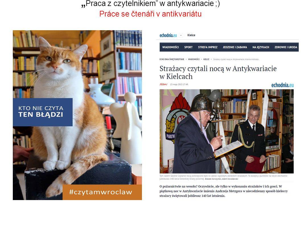 """"""" Praca z czytelnikiem w antykwariacie ;) Práce se čtenáři v antikvariátu"""