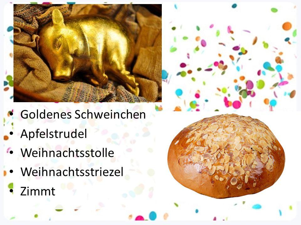 Goldenes Schweinchen Apfelstrudel Weihnachtsstolle Weihnachtsstriezel Zimmt
