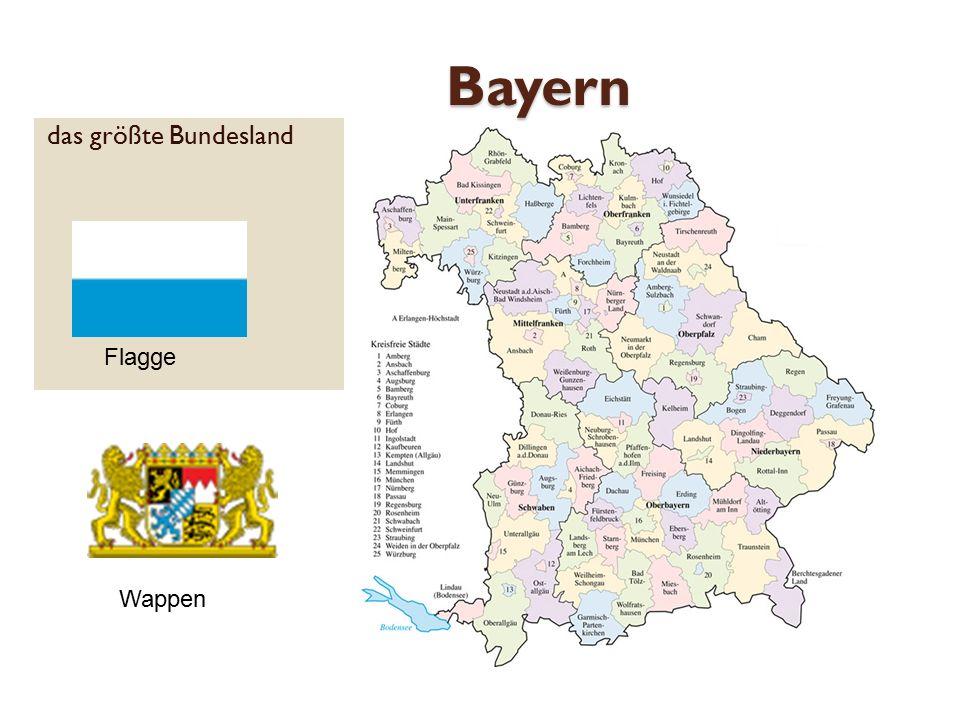 Bayern das größte Bundesland Flagge Wappen