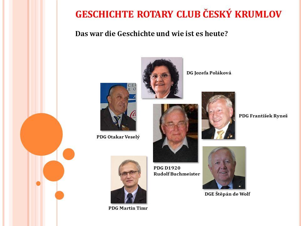 Rotary Club Český Krumlov ist nicht nur ein sehr aktiver südböhmischer Klub im Rahmen der Projekte, aber dank der Stadt, die eines der historischen Juwelen der Tschechischen Republik, eingetragen in der UNESCO-Liste des Weltkulturerbes, ist Český Krumlov auch ein beliebtes Ziel der Rotarianer aus aller Welt.