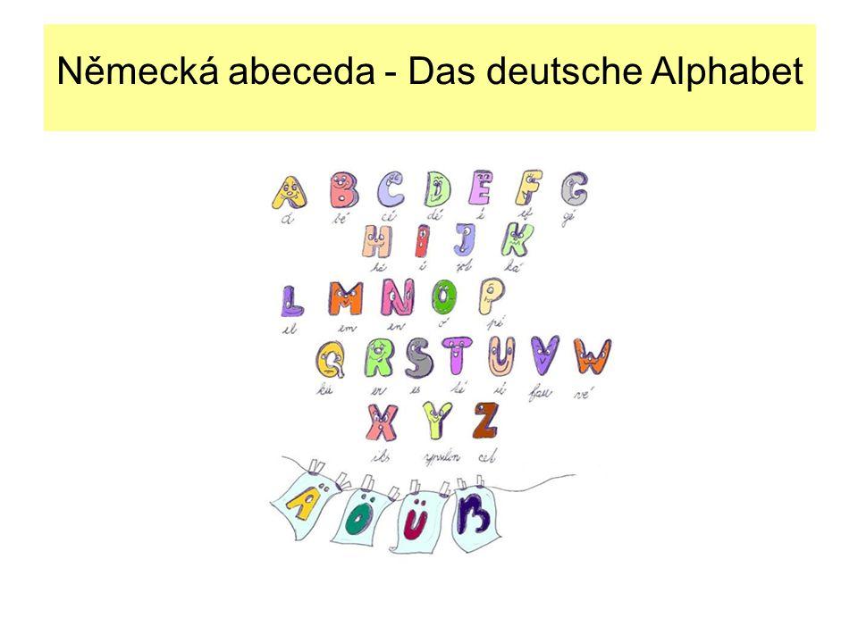 Německá abeceda - Das deutsche Alphabet