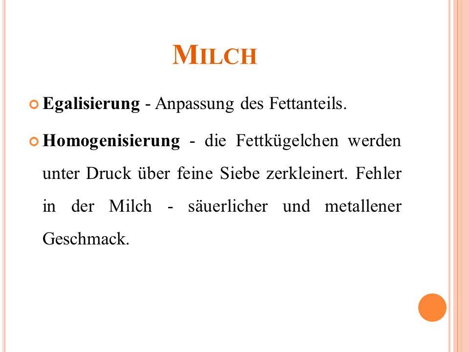 MILCH 1.Finde im Internet die Bedeutung für Milch und was die Milch enthält.
