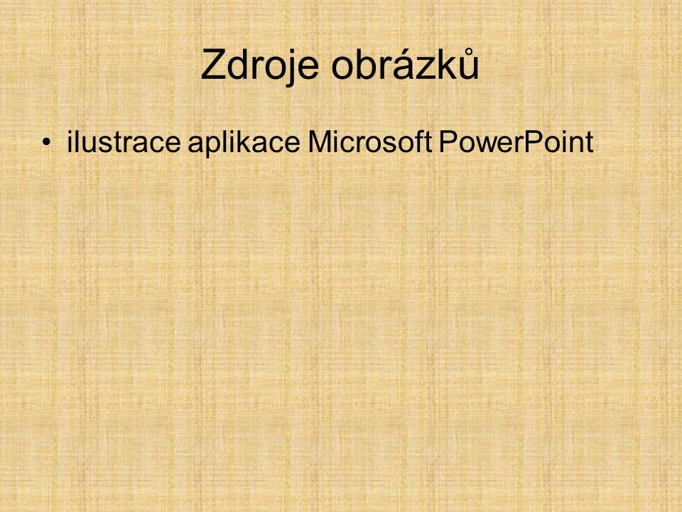 Zdroje obrázků ilustrace aplikace Microsoft PowerPoint