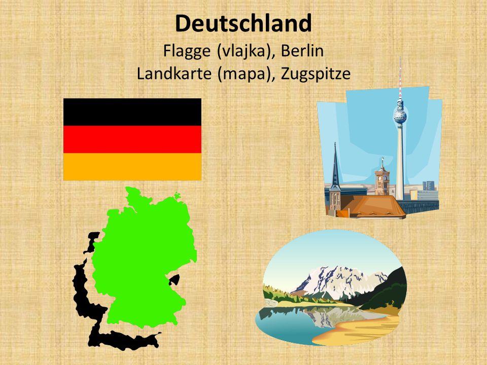 Deutschland Flagge (vlajka), Berlin Landkarte (mapa), Zugspitze