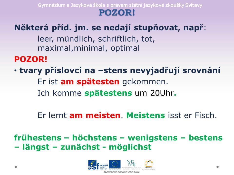 Gymnázium a Jazyková škola s právem státní jazykové zkoušky Svitavy POZOR.