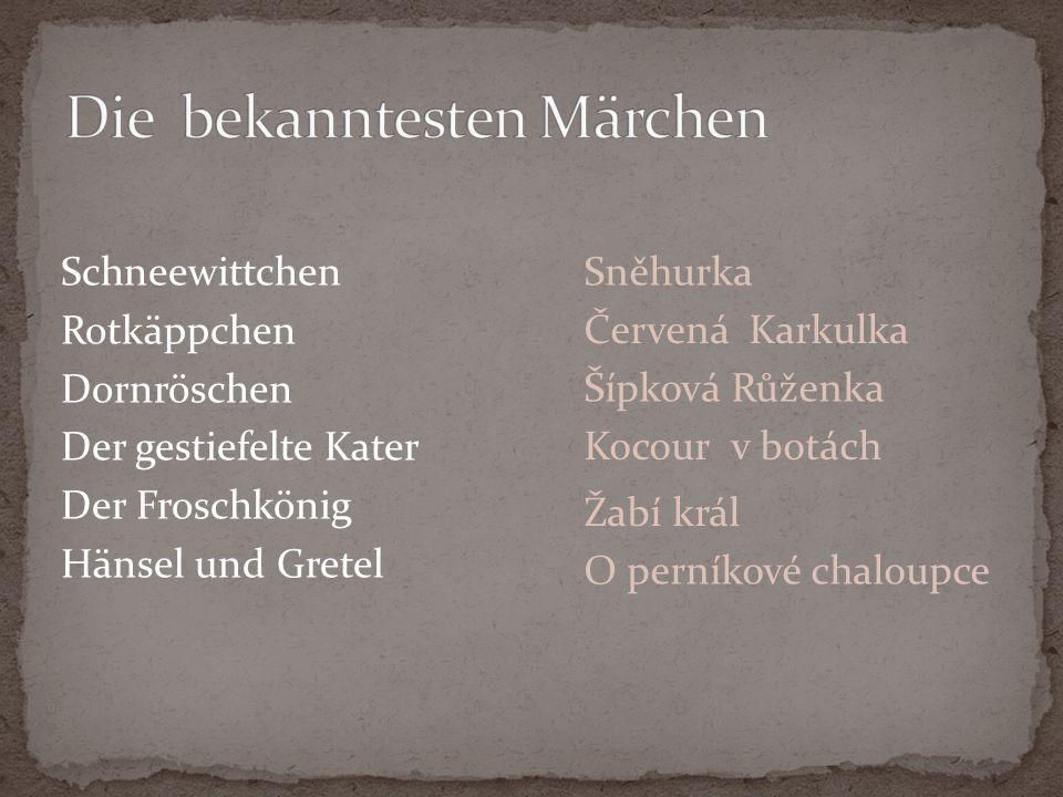 Tischchen deck dich Die sieben Raben Daumesdick Frau Holle Die Erbsenprobe Stolečku, prostři se.
